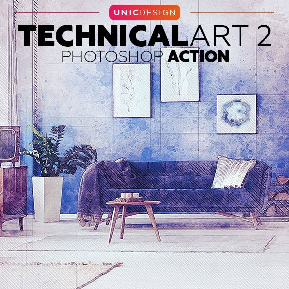 TechnicalArt 2 Photoshop Action