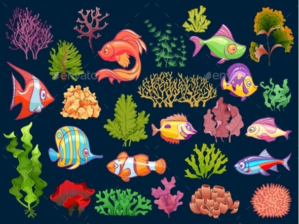 Underwater Set - Animals Characters
