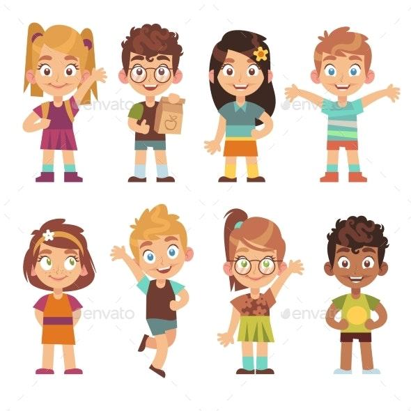 Cartoon Kids Set - People Characters