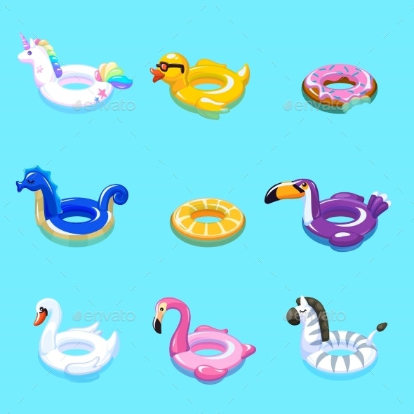 Swimming Toys - Animals Characters