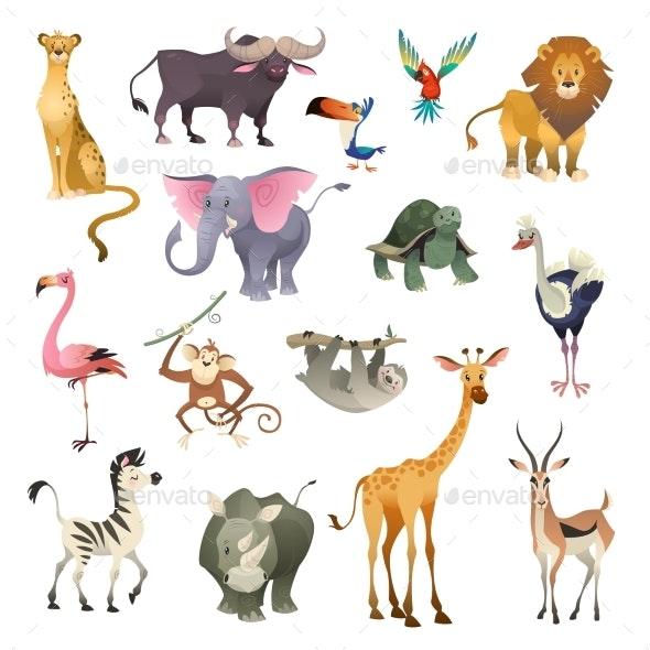 Jungle Wild Animals - Animals Characters