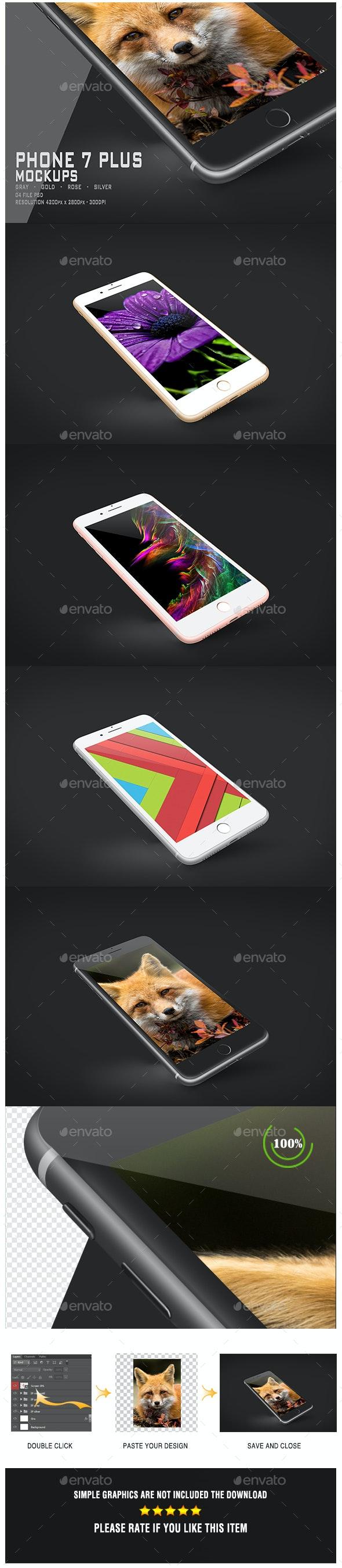 Phone 7 Plus Mockup - Mobile Displays