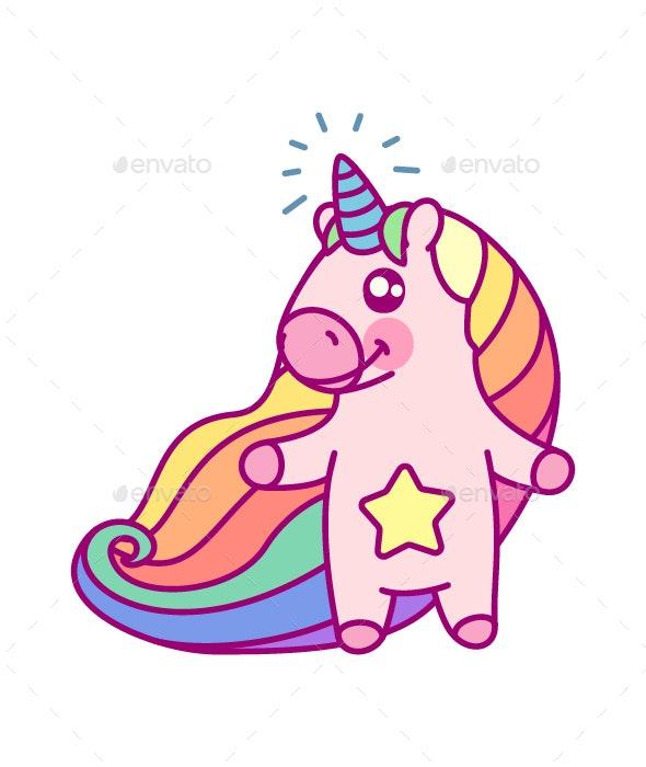 Rainbow Unicorn - Animals Characters