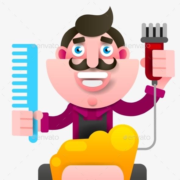 Cartoon Hairdresser - People Characters