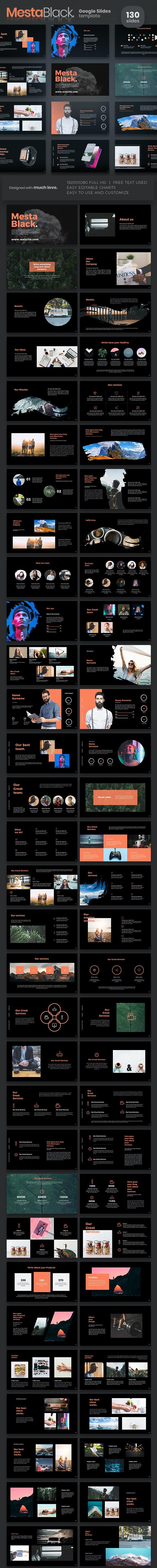 Mesta Black Google Slides - Google Slides Presentation Templates