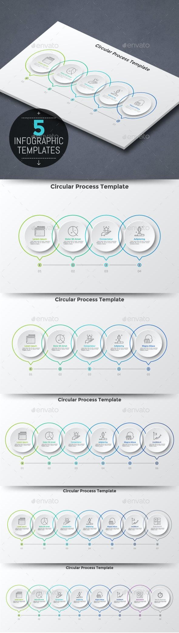5 Process Infographic Templates - Infographics