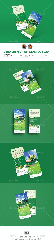 Solar Energy Rack Card   DL Flyer Template - Corporate Flyers