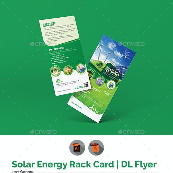 Solar Energy Rack Card | DL Flyer Template