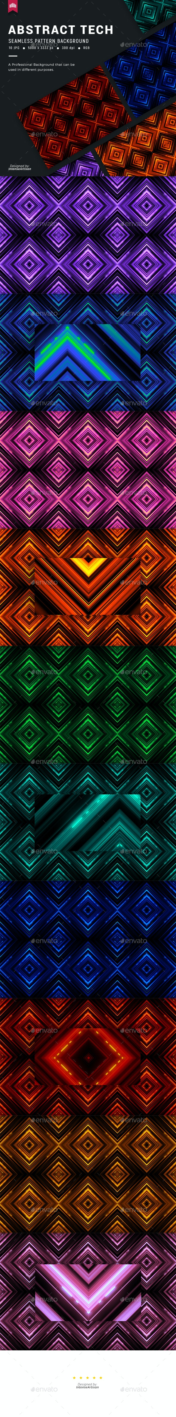 Tech Seamless Pattern Background - Patterns Backgrounds