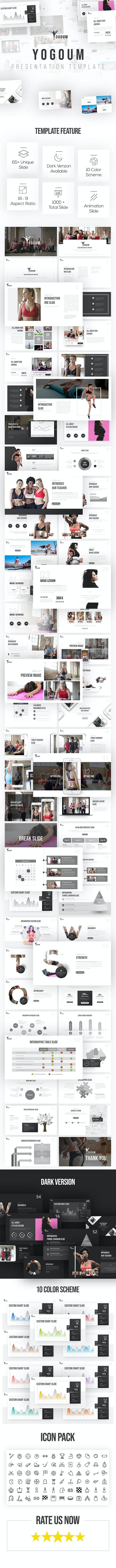 Yogoum - Yoga & GYM PowerPoint Template - PowerPoint Templates Presentation Templates