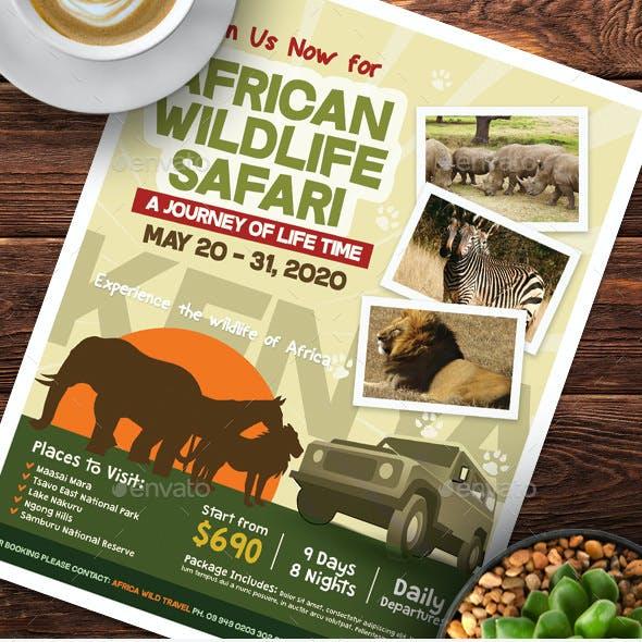 Wildlife Safari Flyer Templates