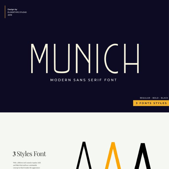 Munich Sans - Modern Font