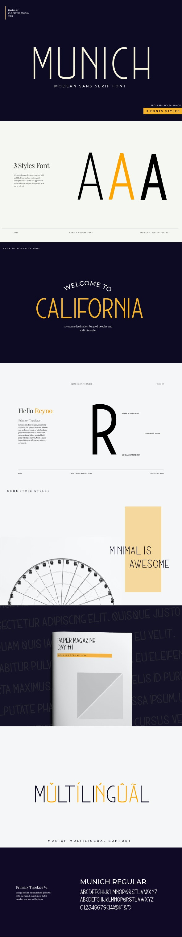 Munich Sans - Modern Font - Sans-Serif Fonts