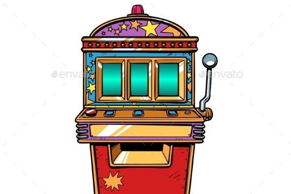 One-armed Bandit Slot Machine - Business Conceptual