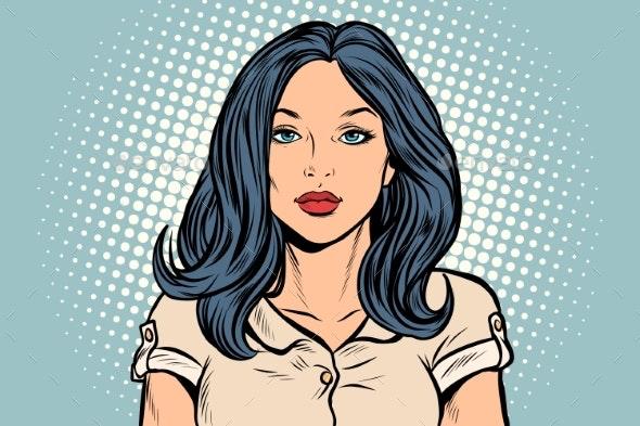 Beautiful Brunette Woman - People Characters