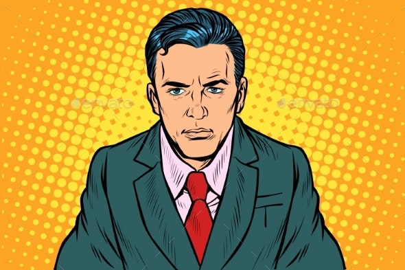 Serious Businessman Man - People Characters