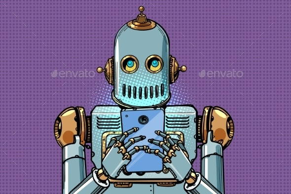 Robot Looks at the Smartphone - Technology Conceptual