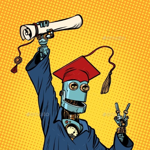 Robot Student Graduate of a University or College