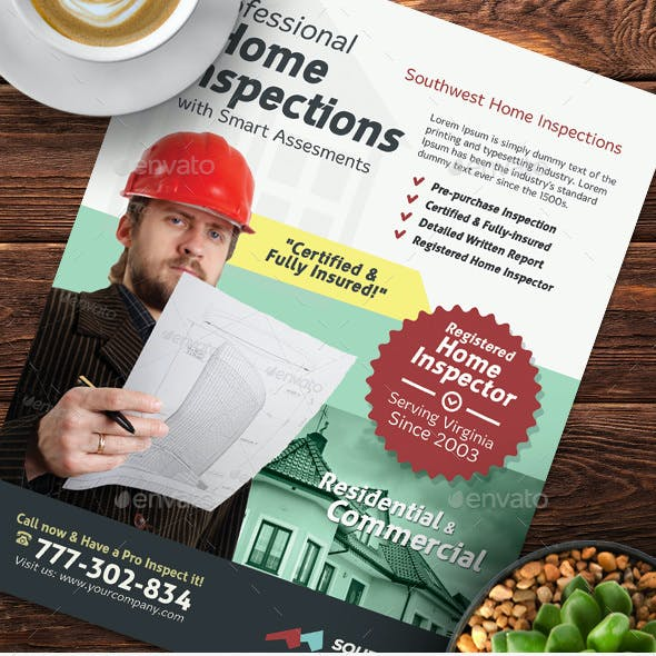 Home Inspection Flyer Templates