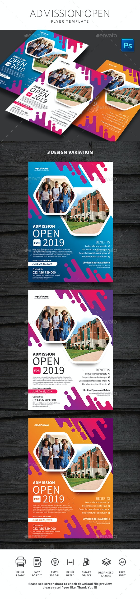 Admission Open - Flyers Print Templates