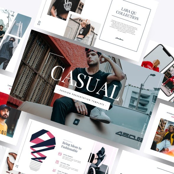 Casual - Fashion Google Slides Template