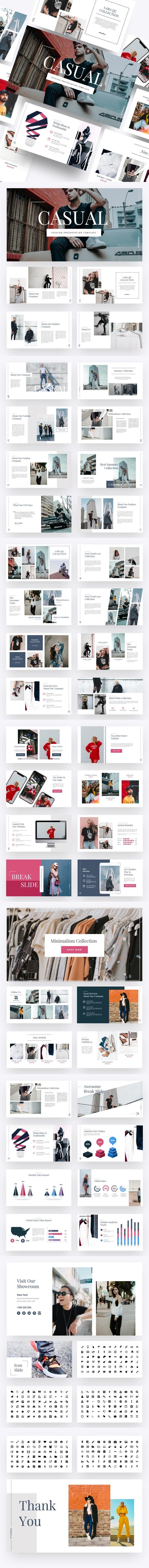Casual - Fashion Google Slides Template - Google Slides Presentation Templates