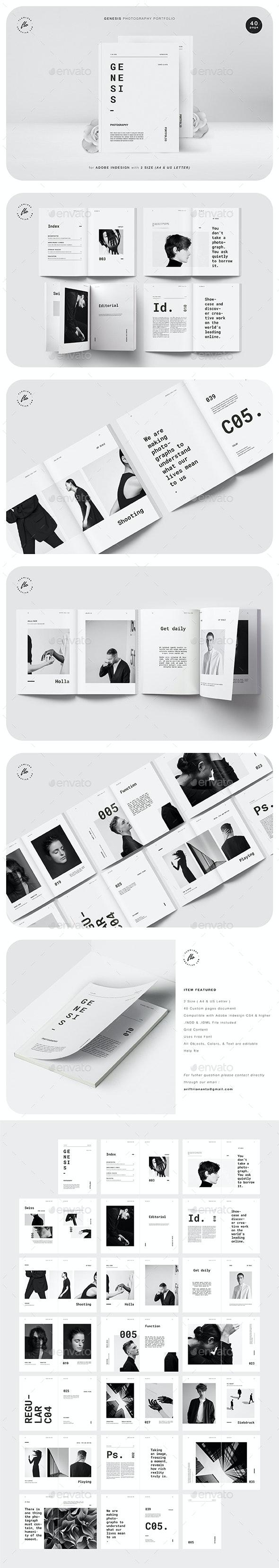 Genesis Photography Portfolio - Magazines Print Templates