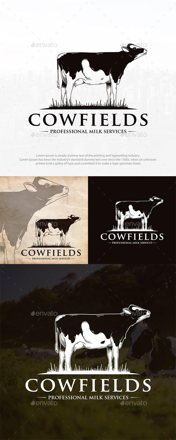 Cow Farm Logo Template - Animals Logo Templates
