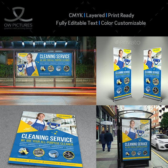 Cleaning Services Advertising Bundle Vol.4
