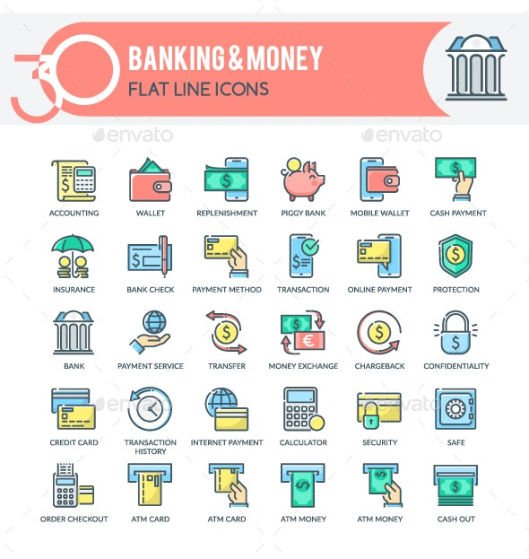 Banking and Money Icons - Business Icons