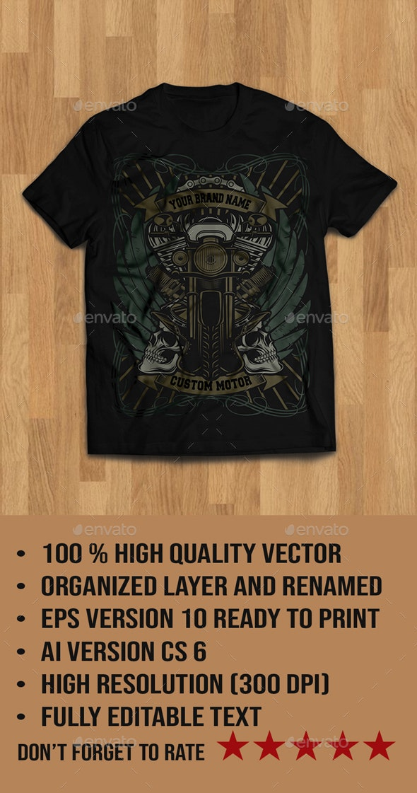 Cafe Racer Tshirt Design - T-Shirts