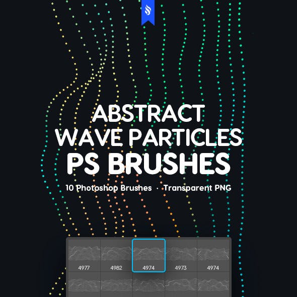 Abstract Wave Particles Photoshop Brushes