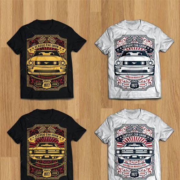 6 Classic Car Show tshirt design