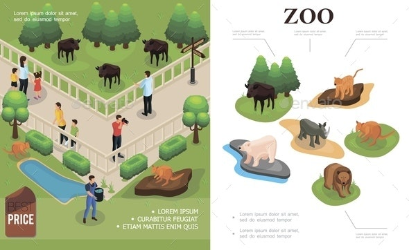 Zoo Colorful Concept - People Characters