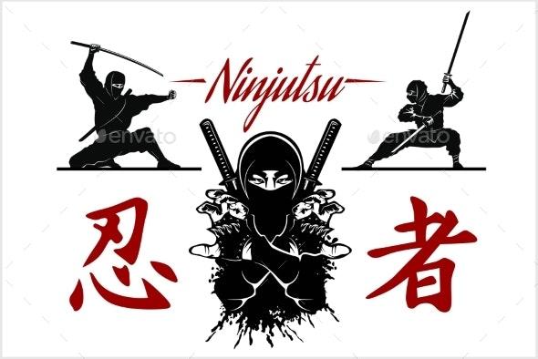 Ninja Warrior Vector Illustration - Miscellaneous Vectors