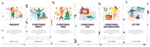 Web Site Onboarding Screens Merry Christmas - Christmas Seasons/Holidays