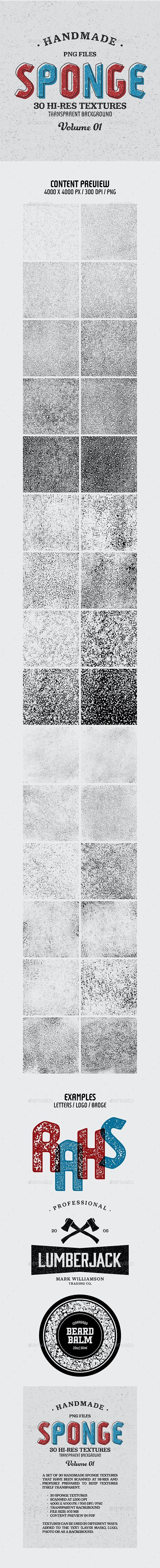 Sponge Textures - Vol. 01 - Miscellaneous Textures