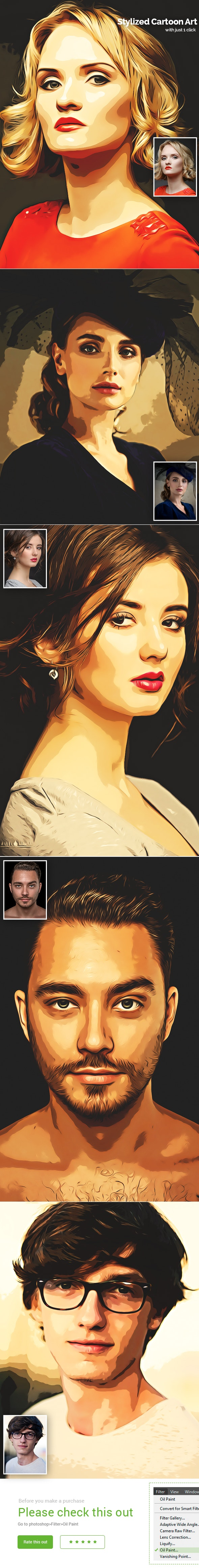 Stylized Cartoon Art - Photo Effects Actions