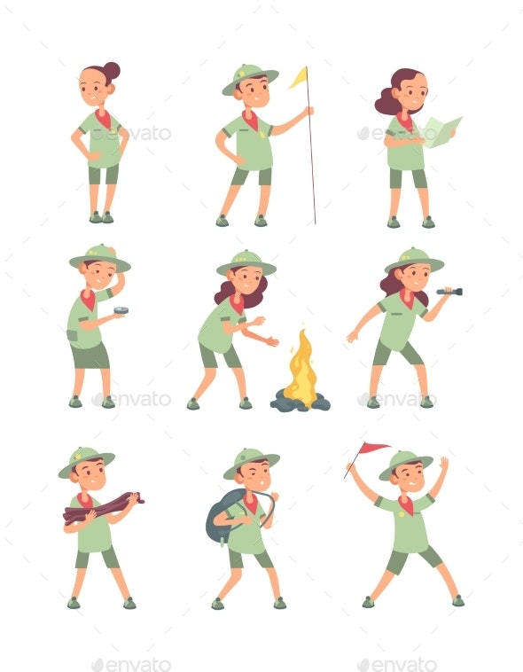 Children Scouts - People Characters