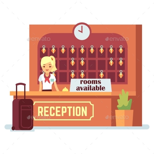 Rooms Available Vector Illustration - People Characters