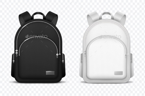 School Backpack - Man-made Objects Objects