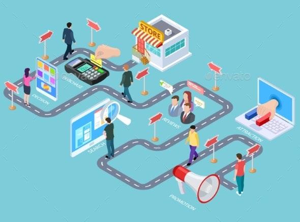 Customer Journey - Miscellaneous Vectors