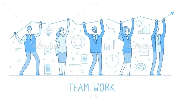 Outsourcing Team - People Characters