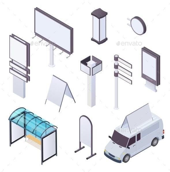 Isometric Billboard - Man-made Objects Objects