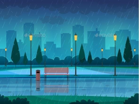 Rainy Day Park - Buildings Objects