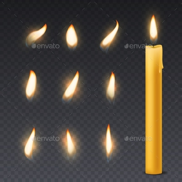 Candle Flame - Man-made Objects Objects