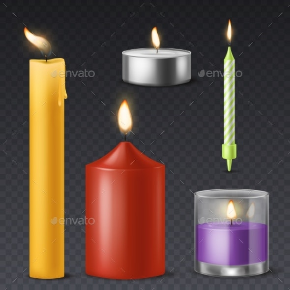 Realistic Candle - Man-made Objects Objects