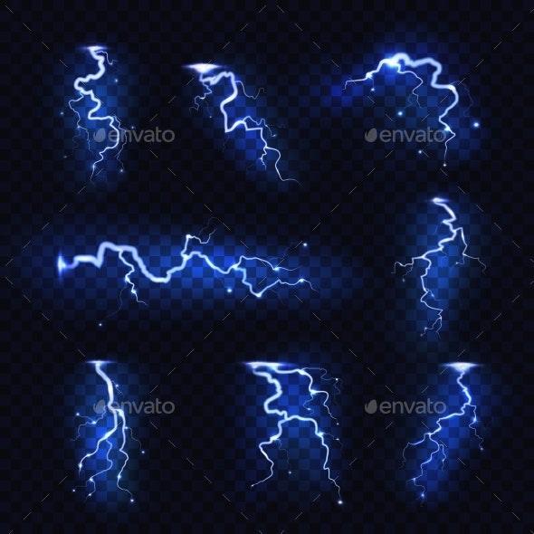 Realistic Lightning - Miscellaneous Vectors