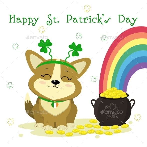 St. Patrick s Day Dog - Animals Characters