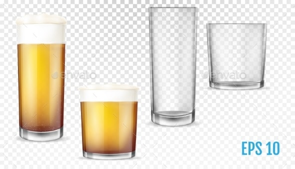 Beer Glasses - Food Objects